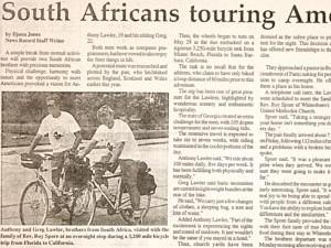 Bike Trip News